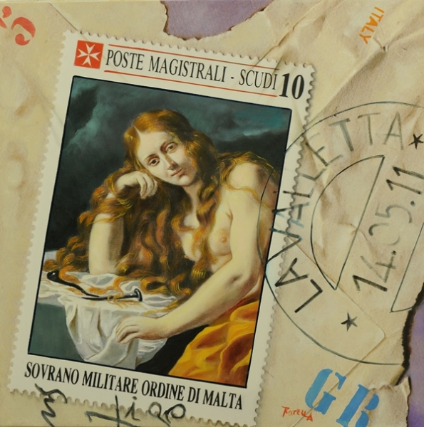 Omaggio a Mattia Preti, olio su tela 50x50, 2012