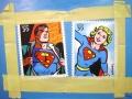 I super eroi, olio su tela 50x70