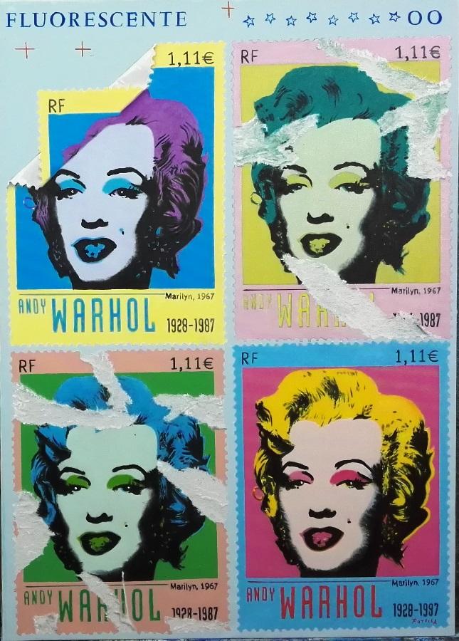 Marilyn forever olio su tela 100x100