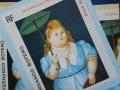 Donna con ombrellino olio su tela 60x60