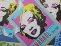 Marilyn forever A, olio su tela 100x100 2017