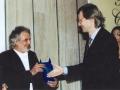 Centro Dir.le Reggio Calabria 'Sala G.Versace' Vittorio Sgarbi consegna il Premio alla Carriera al Maestro GIOVAN BATTISTA ROTELLA
