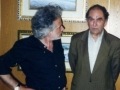Lo scrittore Calabrese Sharo Gambino inaugura la mostra personale del Maestro G.B. Rotella presso l'Hotel 501 di Vibo Valentia