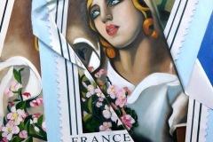 Belle époque olio su tela 50x70